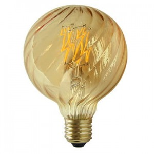 LED E27 filament G95 4W dynia 95mm
