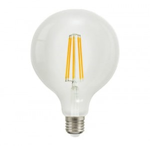 LED E27 filament G125 8W kula 125mm