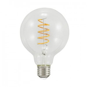 LED E27 filament G95 4W spirala kula 95mm